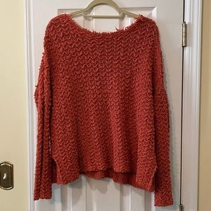 Free People Burnt Orange Sweater